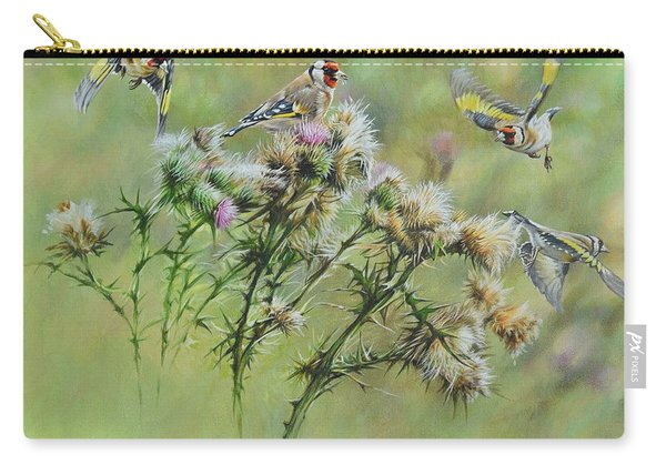 Goldfinches On Thistle Carry-all Pouch