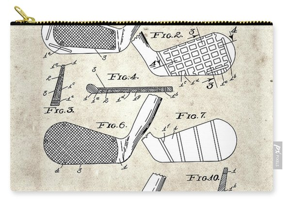 Golf Club Patent Drawing Vintage 5 Carry-all Pouch