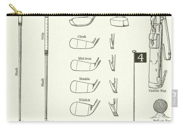 Golf Clubs, Caddie Bag, Etc  Carry-all Pouch