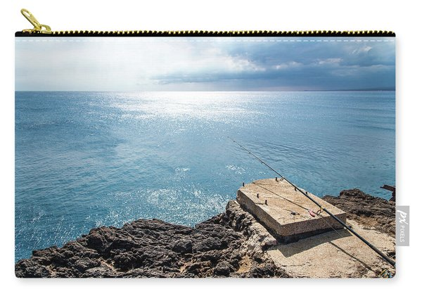 Carry-all Pouch featuring the photograph Gone Fishing by Break The Silhouette