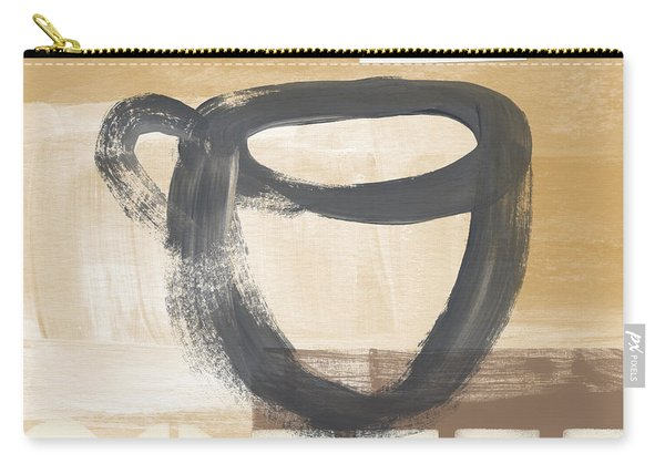 Good Days Start With Coffee- Art By Linda Woods Carry-all Pouch