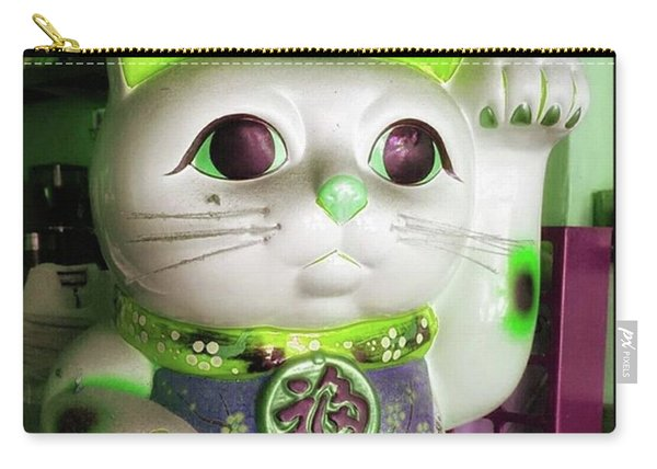 Carry-all Pouch featuring the photograph Good Meowning. I Feel So Lucky Today by Mr Photojimsf