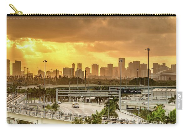 Miami City Sunrise Carry-all Pouch