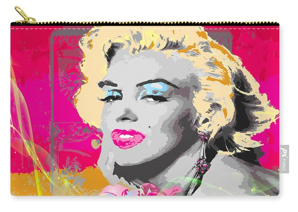 Carry-all Pouch featuring the digital art Goodbye Norma Jean  by Eleni Mac Synodinos
