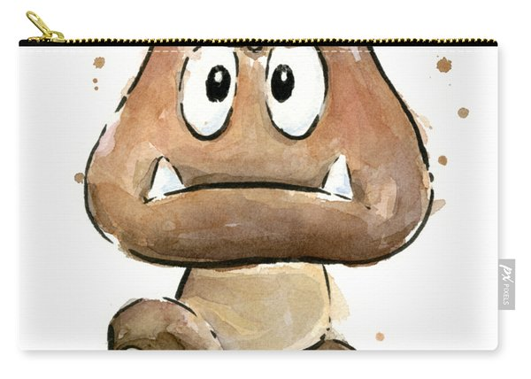Goomba Watercolor Carry-all Pouch