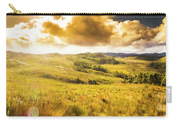 Gorgeous Golden Sunset Field  Carry-all Pouch