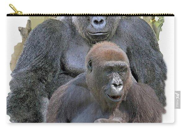 Gorilla Family Portrait Carry-all Pouch