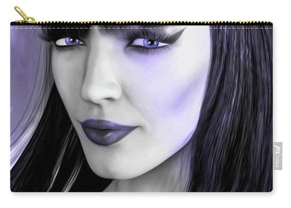 Goth Portrait Purple Carry-all Pouch