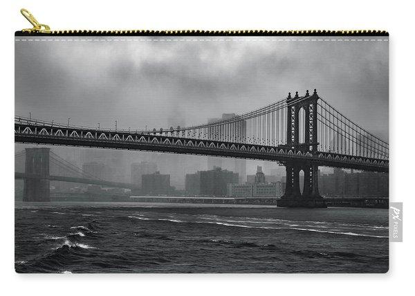 Manhattan Bridge In A Storm Carry-all Pouch