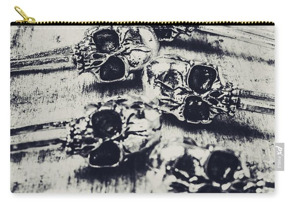 Gothic Skull Pins Carry-all Pouch