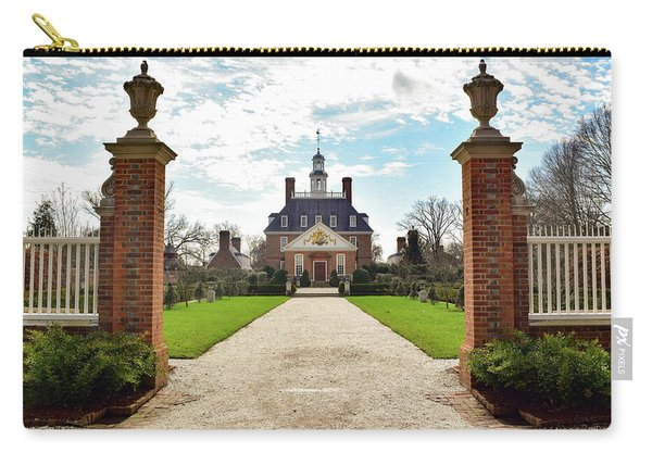 Governor's Palace In Williamsburg, Virginia Carry-all Pouch