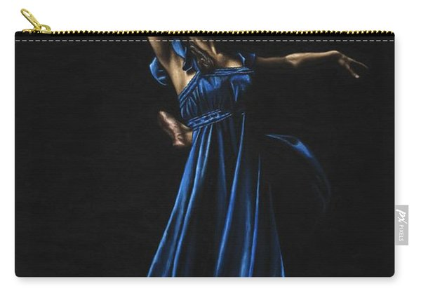 Graceful Dancer In Blue Carry-all Pouch