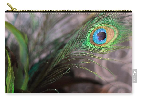 Graceful Peacock Feather Carry-all Pouch