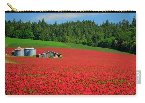 Grain Bins Barn Red Clover Carry-all Pouch
