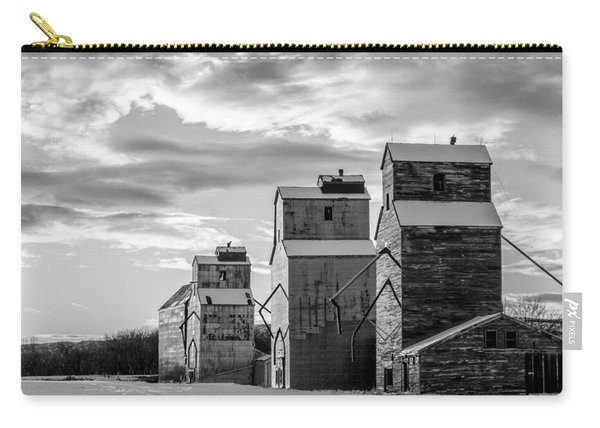 Granary Row In B W Carry-all Pouch