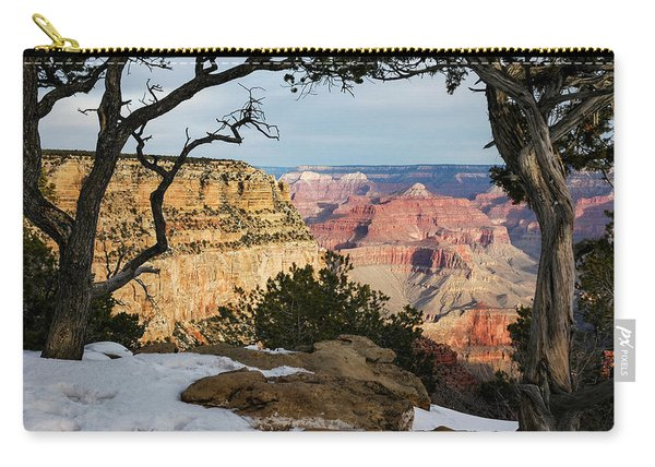 Carry-all Pouch featuring the photograph Grand Canyon At Sunrise by Mary Lee Dereske