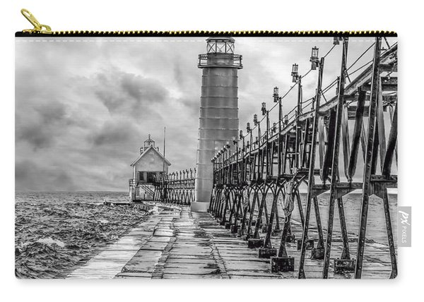 Grand Haven Lighthouse - Monochome Carry-all Pouch