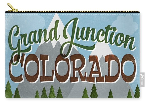 Grand Junction Colorado Snowy Mountains Carry-all Pouch