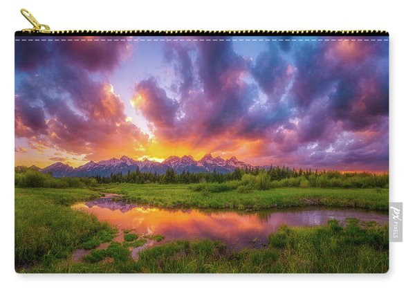 Grand Sunset In The Tetons Carry-all Pouch