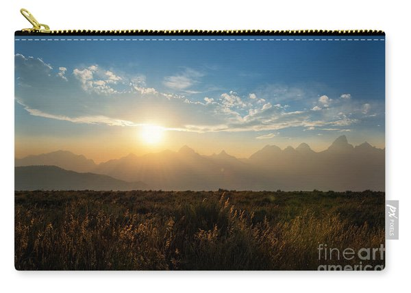 Grand Teton Hazy Sunset  Carry-all Pouch
