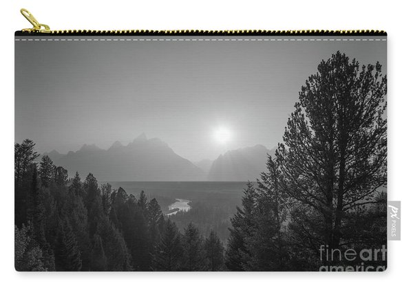 Grand Teton National Park Bw Carry-all Pouch