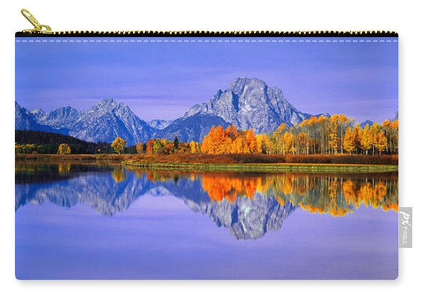 Grand Tetons And Reflection In Grand Carry-all Pouch