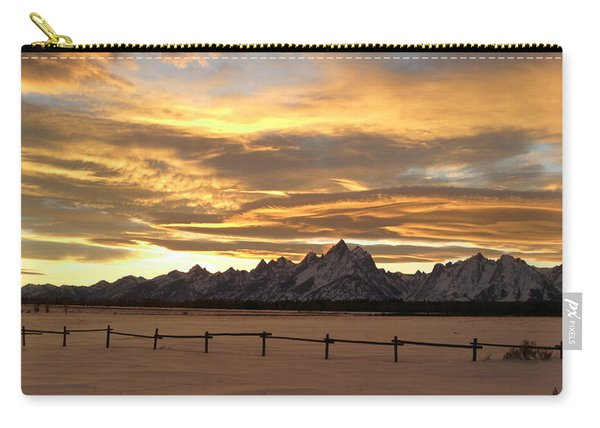 Grand Tetons In January Glory Carry-all Pouch