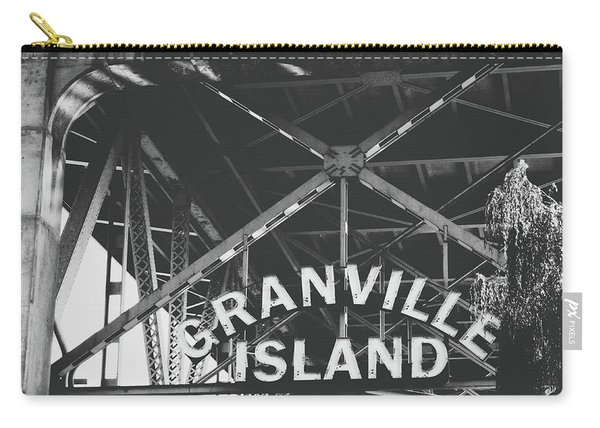 Granville Island Bridge Black And White- By Linda Woods Carry-all Pouch