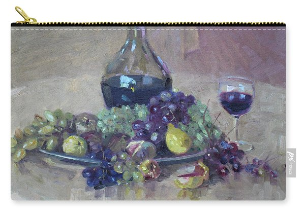 Grape And Wine Carry-all Pouch