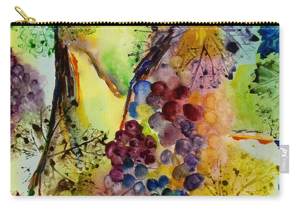 Grapes And Leaves IIi Carry-all Pouch