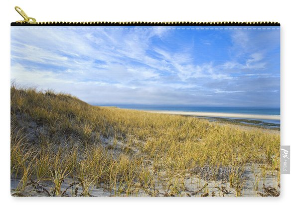 Grassy Sand Dunes Overlooking The Beach Carry-all Pouch