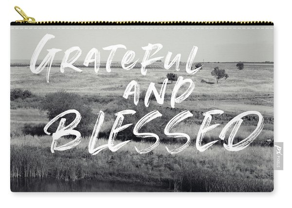 Grateful And Blessed- Art By Linda Woods Carry-all Pouch