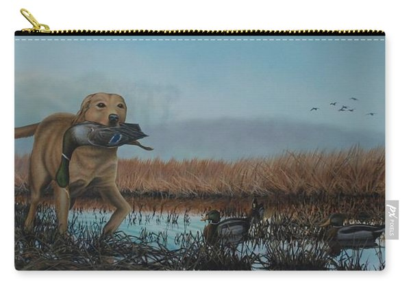 Gray Day Mallards Carry-all Pouch