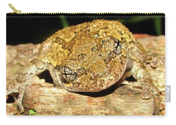 Gray Tree Frog Horizontal Carry-all Pouch