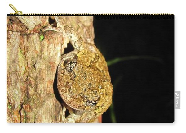 Gray Tree Frog Verticle Carry-all Pouch