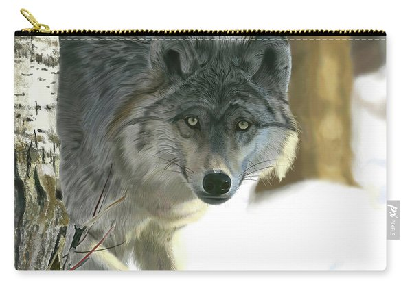 Gray Wolf Carry-all Pouch