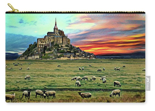 Grazing At Mont Saint Michel Carry-all Pouch