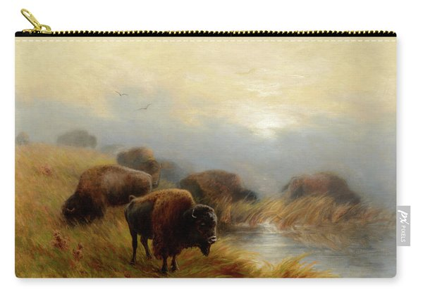 Grazing Buffalo Carry-all Pouch