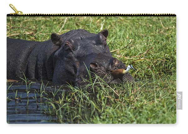 The Hippo And The Jacana Bird Carry-all Pouch