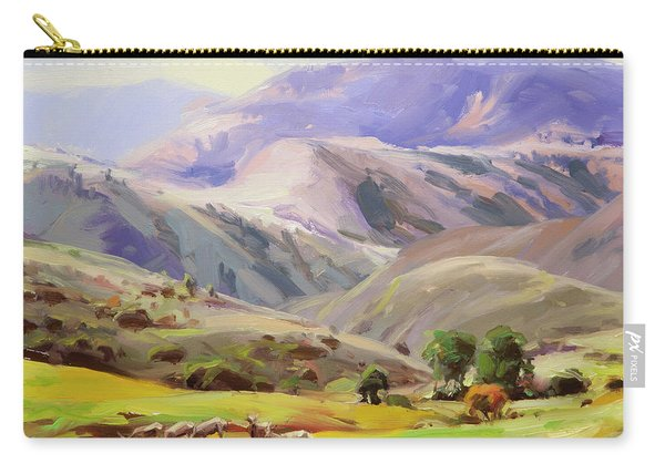 Grazing In The Salmon River Mountains Carry-all Pouch
