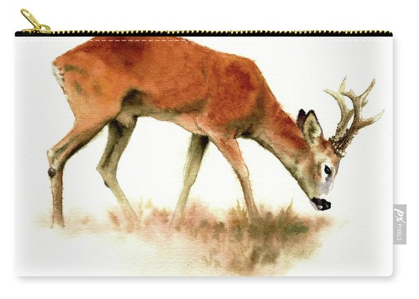 Grazing Roebuck Watercolor Carry-all Pouch