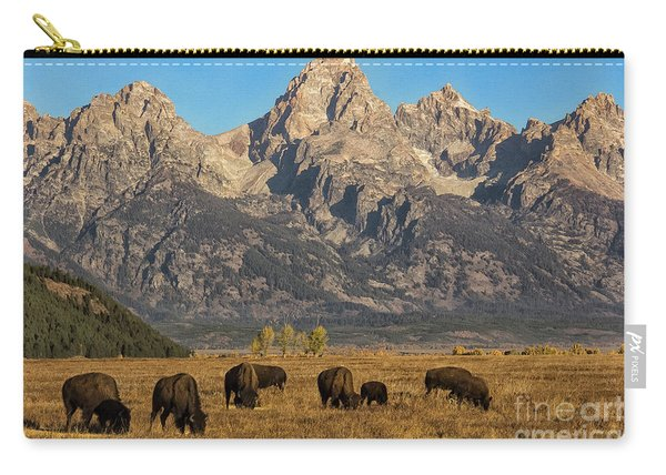 Grazing Under The Tetons Wildlife Art By Kaylyn Franks Carry-all Pouch