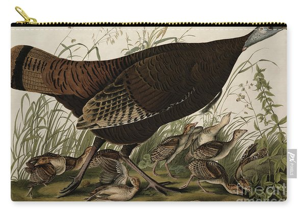 Great American Hen And Young Carry-all Pouch