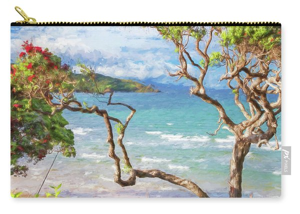 Great Barrier Island New Zealand View Painterly Carry-all Pouch