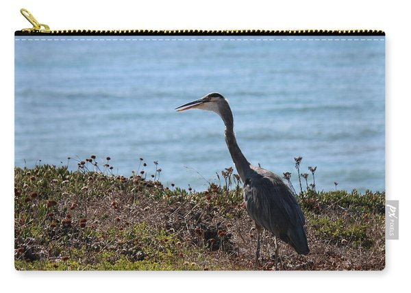 Carry-all Pouch featuring the photograph Great Blue Heron - 3 by Christy Pooschke