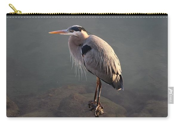 Carry-all Pouch featuring the photograph Great Blue Heron - 5 by Christy Pooschke
