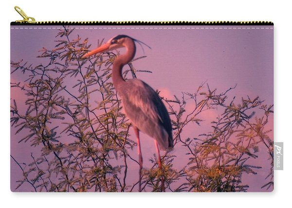 Great Blue Heron - Artistic 6 Carry-all Pouch