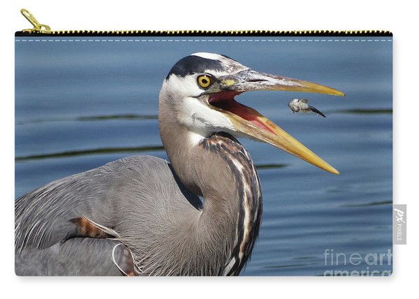Great Blue Heron Feast Carry-all Pouch