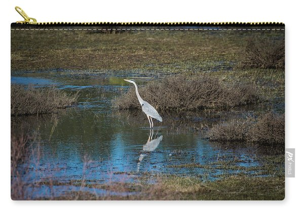Carry-all Pouch featuring the photograph Great Blue Heron by Jason Coward