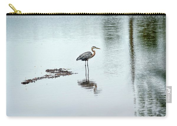 Great Blue Heron On Chesapeake Bay Pond Carry-all Pouch
